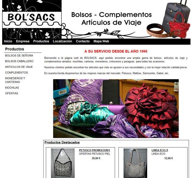 Elige el bolso, el complemento o el artículo de viaje que desees en el catálogo on-line que incluye la nueva página web de la tienda Bolsacs, Foto 1