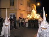 La procesión de Nuestro Padre Jesús Nazareno atrae a númeroso público a las calles de Puerto de Mazarrón
