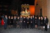 Manuel Campos preside la procesi�n del Santo Entierro de Alhama de Murcia