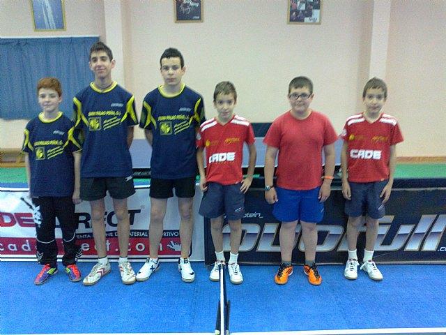 Tenis de Mesa. Club Totana T.M. 2ª nacional: C.D. Huetor Vega 4 -- 3 Peña Barcelonista de Yotana, Foto 1