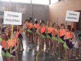 Las alumnas de la Escuela Deportiva Municipal de Gimnasia Rítmica de Totana participaron en la competición interescuelas Ciudad de Lorca