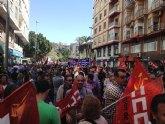Concejales de IU-Verdes en Totana asistieron a la manifestación celebrada el 1 de Mayo en Murcia