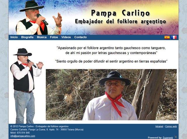 Pampa Carlino, artista argentino afincado en Totana, estrena web, Foto 1