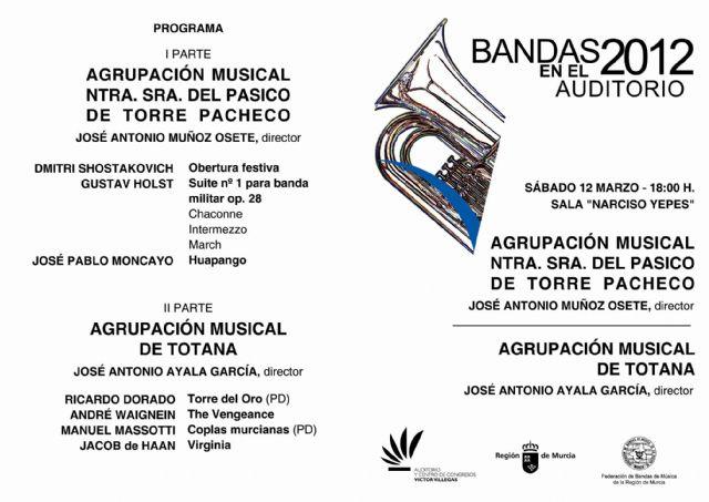 La Agrupación Musical de Totana actuará el próximo sábado 12 de mayo en el auditorio Víctor Villegas de Murcia, Foto 1