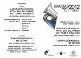 La Agrupación Musical de Totana actuará el próximo sábado 12 de mayo en el auditorio Víctor Villegas de Murcia