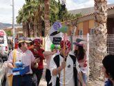Los usuarios del Centro de Día José Moyá celebran por segundo año un particular Entierro de la Sardina