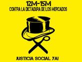 Ciudadanos de Murcia y Totana se unen a la manifestación convocada por el Movimiento 15 M de carácter mundial