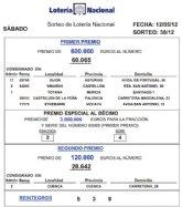 El 60.065 ha obtenido los 600.000 euros del primer premio de la Lotería