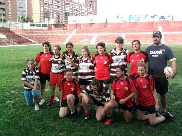 La chicas del Club de Rugby de Totana debutan en el III Campeonato de Escuelas de Rugby, Foto 1