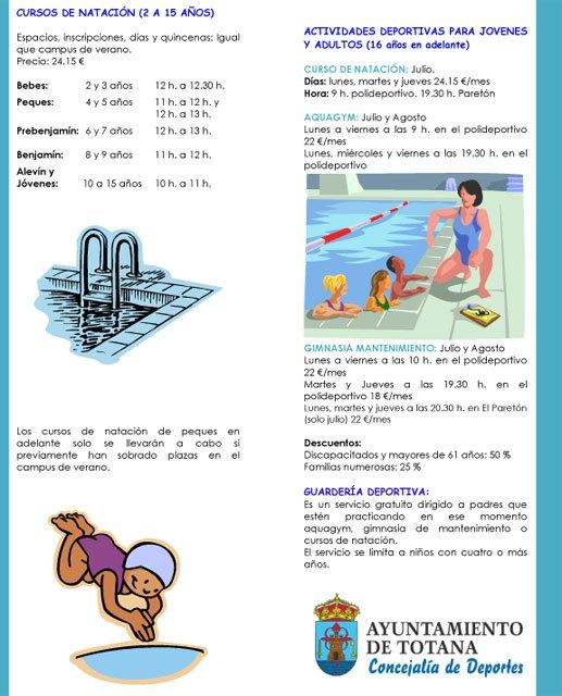 El Verano Polideportivo´2012 mantiene su oferta de actividades acuáticas y deportivas, Foto 3