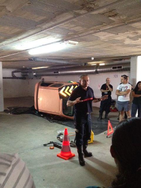 Voluntarios de Protección Civil de Totana participan en unas jornadas de formación sobre intervención en accidentes de tráfico, Foto 3