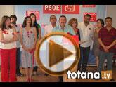 El nuevo Secretario General del PSOE de Totana, Andrés Garcia Cánovas, presentó a la nueva ejecutiva