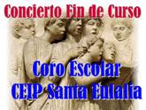 El próximo martes 19 de junio tendrá lugar en el Convento de las Tres Avemarías el concierto fin de curso del coro escolar del Colegio Santa Eulalia