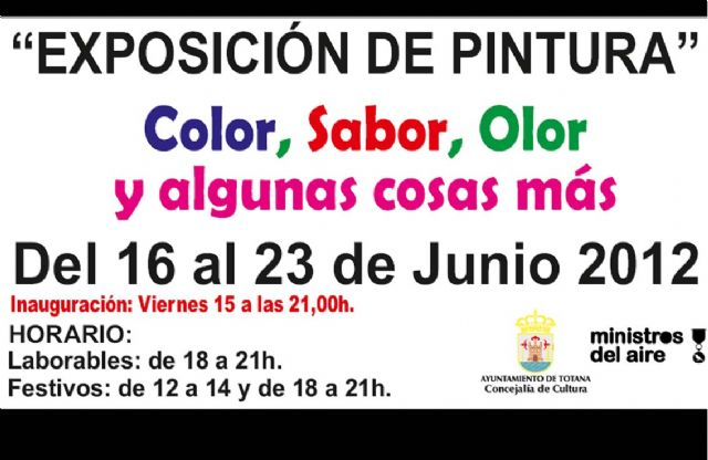"""The Ministers Association Air opens tomorrow the painting exhibition """"Color, taste, odor and other things"""", Foto 1"""