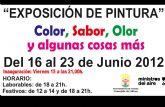 La Asociación Ministros del Aire inaugura mañana la exposición de pintura Color, sabor, olor y algunas cosas más