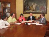 El presidente de la CHS se reúne con los alcaldes de Puerto Lumbreras, Las Torres de Cotillas y Totana
