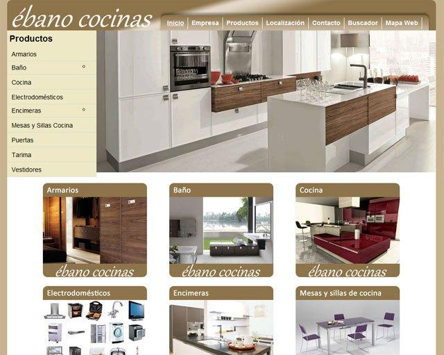ébano cocinas es otra empresa que ha confiado en 'Superweb' -la herramienta desarrollada por TOTANA.COM- para crear su propia web, Foto 1