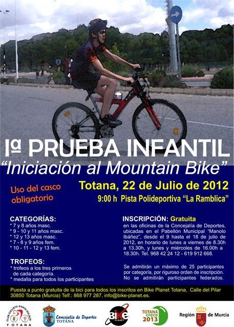 La I prueba infantil Iniciación al Mountain Bike para niños de 7 a 13 años se celebrará el 22 de julio, Foto 2
