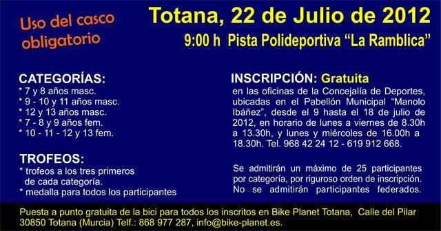 La I prueba infantil Iniciación al Mountain Bike para niños de 7 a 13 años se celebrará el 22 de julio, Foto 3