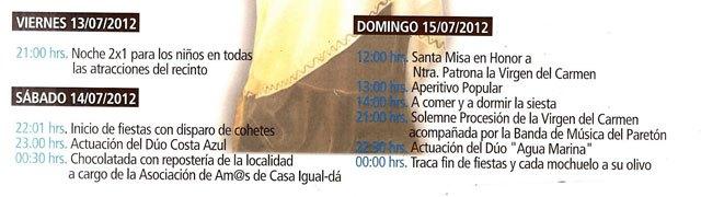Las fiestas de Las Lomas de la Cruz en El Paretón-Cantateros, en honor a la Virgen del Carmen, se celebran este próximo fin de semana, Foto 2