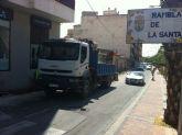 Arrancan las obras de remodelación de las aceras de la Avenida de la Rambla de la Santa