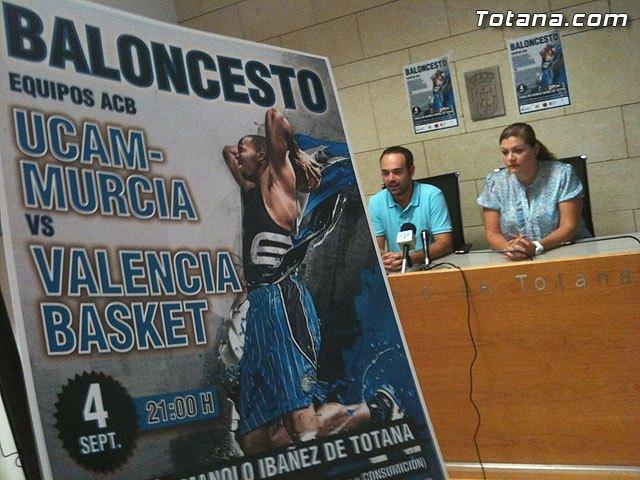 """El Pabellón Municipal """"Manolo Ibáñez"""" acoge mañana el partido de baloncesto entre el UCAM Murcia y el Valencia Basket, Foto 2"""