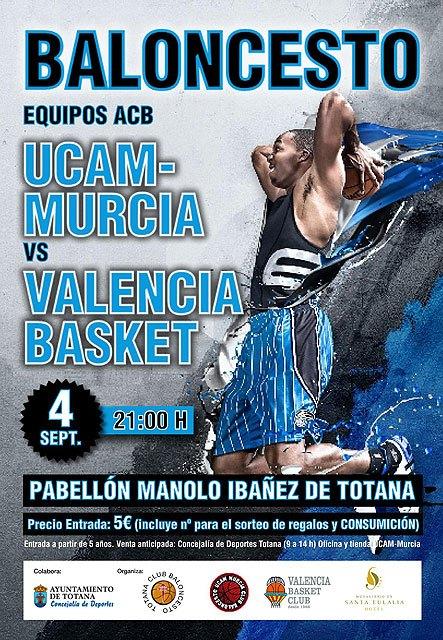 """El Pabellón Municipal """"Manolo Ibáñez"""" acoge mañana el partido de baloncesto entre el UCAM Murcia y el Valencia Basket, Foto 3"""