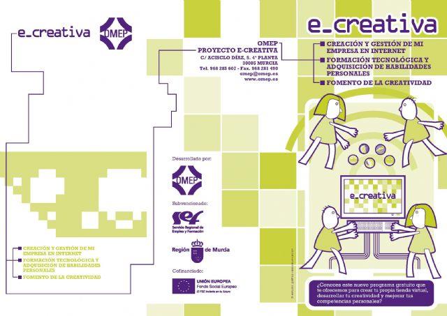 El próximo 20 de septiembre se impartirá de forma gratuita el taller E-Creativa para empezar, Foto 1