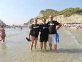 El totanero jose Migue Cano participó en la I Travesía a nado Cala de Finestrat (Alicante)