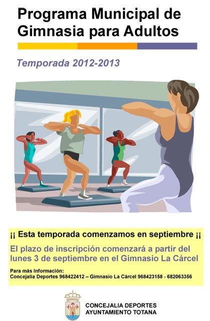 The Municipal Program Adult Gymnastics this year offering fitness, particularly for the spine and for the elderly and disabled, Foto 1