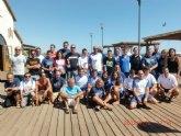 El totanero Jose Miguel Cano participó en la 9ª edición de la Travesía del Mar Menor Isla Perdiguera - Los Alcázares