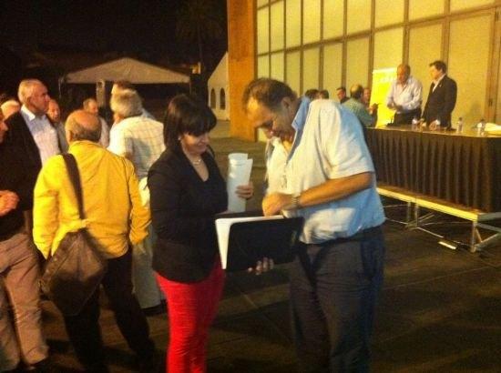 La alcaldesa y el concejal de Agricultura asisten a la Asamblea General Comarcal de COAG-IR, Foto 2