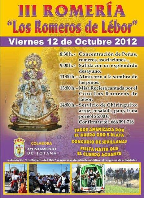 El próximo 12 de octubre tendrá lugar la III Romería Los Romeros de Lébor, Foto 2