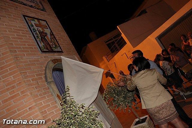 Las actividades organizadas con motivo de las fiestas de San Francisco arrancan con la inauguración de la hornacina al patrón del barrio, Foto 1