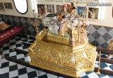 La Hermandad de Nuestra Señora de los Dolores organizó una jornada de puertas abiertas para ver su nuevo trono