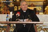 El Obispo de la Diócesis de Cartagena, Mons. Lorca Planes, imparte una conferencia en Totana para profundizar en el Año de la Fe