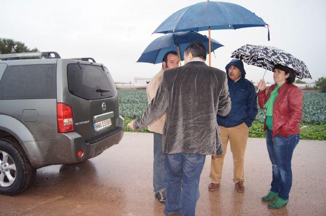 El ayuntamiento y la CHS visitan las zonas donde desembocan las principales ramblas de Totana, en las que se acometerían los embalses para la reutilización de pluviales, Foto 1