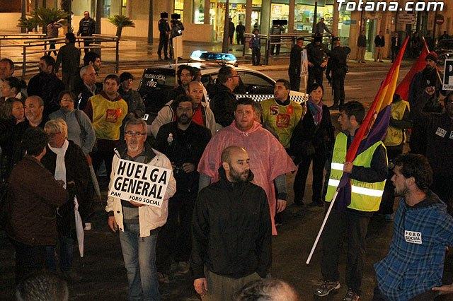 IU-Verdes critica el amplio despliegue de agentes de la Guardia Civil para seguir la Marcha contra el Paro, Foto 1