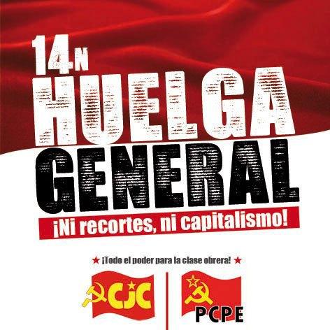El PCPE y los CJC llaman a la clase obrera a la Huelga General el 14-N, Foto 2