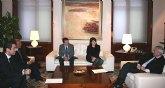 El presidente Valcárcel recibe a los alcaldes de Totana, Lorca y Puerto Lumbreras