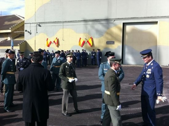 El concejal de Seguridad Ciudadana asiste al acto institucional de festividad de la Patrona del Ejército del Aire en el EVA-13, en el Morrón de Espuña, Foto 3