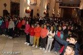 Alumnos de religión de diferentes colegios de de Totana asistieron a una misa en honor a Santa Eulalia