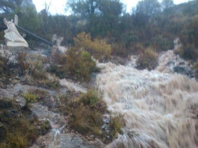 Sierra Espuña registra la mayor concentración de precipitaciones de la Región de Murcia durante el temporal de lluvias generalizadas, Foto 1