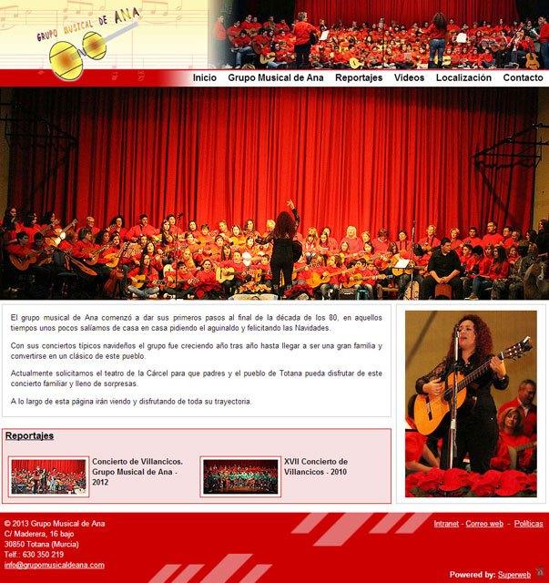 El Grupo Musical de Ana elige Superweb para darse a conecer en Internet, Foto 2