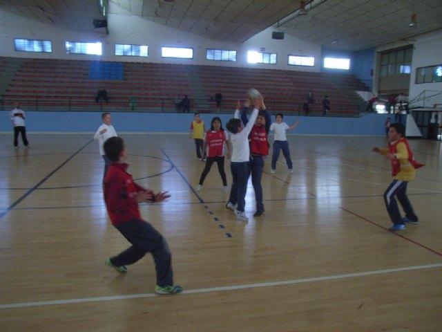 La concejalía de Deportes organizo la primera jornada de la fase local de balonmano alevín de deporte escolar, Foto 3