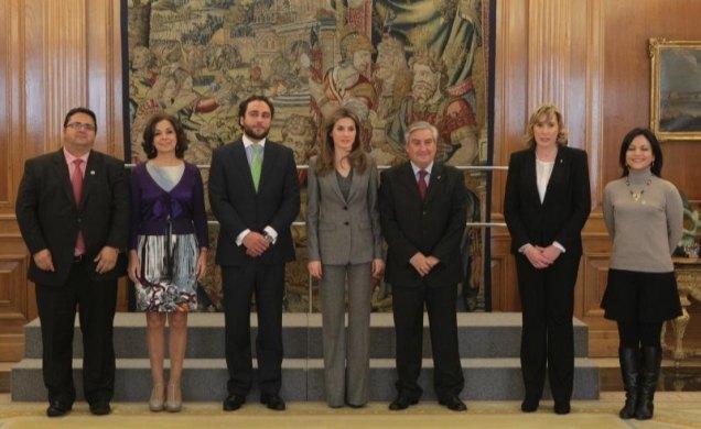 SAR la Princesa de Asturias recibe en Audiencia a ASEM, FEDER y a la Fundación Isabel Gemio, Foto 1