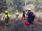 La caída de un cable de alta tensión provoca un incendio en el mirador de La Santa