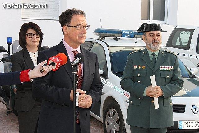 El delegado del Gobierno inaugura el Cuartel de la Guardia Civil de Totana, completamente reformado tras los daños causados por el terremoto de mayo de 2011, Foto 1