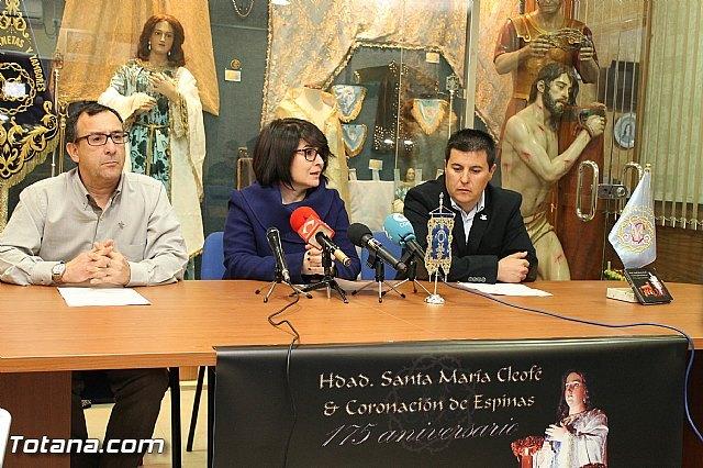 La Hermandad de Santa María Cleofé y Coronación de Espinas celebra este año el 175 aniversario de su imagen titular, Foto 1