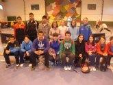 La Sala Escolar de Totana acogió la primera jornada de la fase regional de bádminton de Deporte Escolar